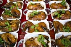 entier rôti par poulet Image libre de droits