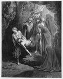 Entierran a Jesús en el enterrar ilustración del vector