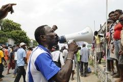 Entierro de Haití. Foto de archivo libre de regalías