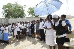 Entierro de Haití. Fotos de archivo
