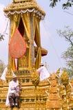 Entierro real en Bangkok, abril de 2012 Imagen de archivo libre de regalías