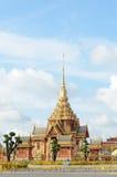Entierro real tailandés y templo Imagenes de archivo