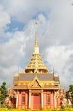 Entierro real tailandés y templo en Bangkok Fotografía de archivo libre de regalías