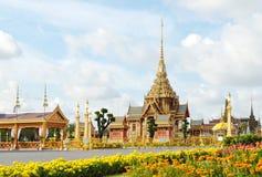 Entierro real tailandés y templo en Bangkok Imagen de archivo