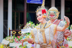 Entierro tailandés del baile Fotos de archivo
