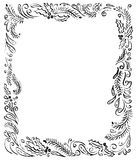 Entinte el ejemplo artístico con las ramas de árbol de pino, remolinos libre illustration