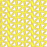 Entinte el modelo inconsútil del fondo amarillo simple de los triángulos del dibujo Imagen de archivo libre de regalías