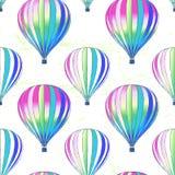 Entinte el modelo inconsútil dibujado mano de los balones de aire del vector Imagenes de archivo