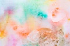 Entinte la textura, fondo del color de la acuarela, chapoteo de la pintura de la acuarela fotos de archivo