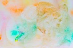 Entinte la textura, fondo del color de la acuarela, chapoteo de la pintura de la acuarela fotos de archivo libres de regalías