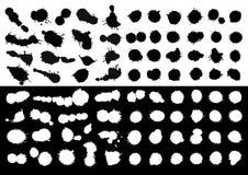 Entinte las manchas blancas /negras Fotografía de archivo libre de regalías