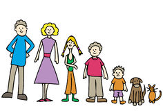 Entire Family Stock Image