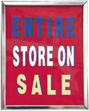 ENTIRE STORE ON SALE sign. Stock Images