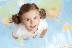 Entire world at my feet Stock Photography