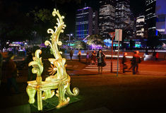 Entitle at Sydney Vivid Stock Photos
