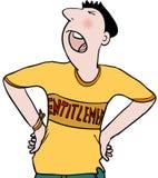Entitlement. Arrogant teenager with sense of entitlement Stock Illustration