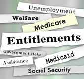 Entitlements Government Programs Medicare Medicaid Welfare News. Headlines Illustration vector illustration