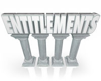 Entitlements Stone Columns Government Benefits Handouts Word Stock Photos