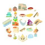 Entity icons set, cartoon style. Entity icons set. Cartoon set of 25 entity vector icons for web isolated on white background stock illustration
