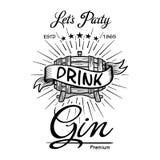 Entkörnen Sie Typografie-Tafelvektor der Aufkleberweinlese Hand gezeichneten Grenz alcohol Hölzerne Fassgetränkzeichen Typografis vektor abbildung