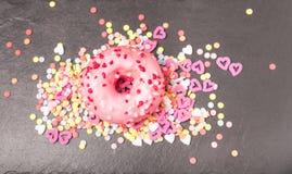 Entkernter Donut Stockbild