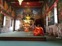 Entkleiden Sie buddhistischen Mönch Stockfoto
