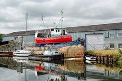 Entlang dem Exeter-Kanal Lizenzfreies Stockfoto