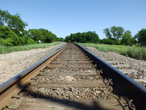 Entlang den Bahnen Stockfotografie
