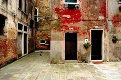 Entlang den Straßen von Venedig Stockfoto