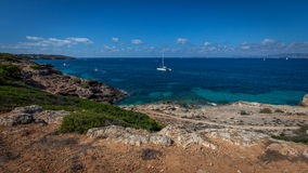 Entlang der Küste in Majorca stockbilder