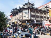 Entlang Fuyou-Straße Shanghai, China stockbild