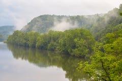 Entlang James River blauer Ridge Parkway, Virginia lizenzfreie stockbilder