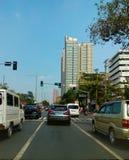 Entlang Roxas-Boulevard und Pedro Gil St lizenzfreie stockfotografie