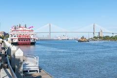 Entlang Savannah River lizenzfreie stockfotos