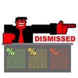 entlassen Infographics für Entlassung Rote verärgerte Bospunkte zu d Stockfotos