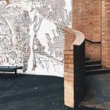 Entlastung auf der Wand Stockfotos