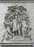 Entlastung des Triumphes von Napoleon Stockbild