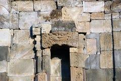 Entlastung und Skulptur in Ijo-Tempel Stockbild