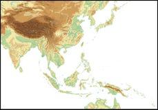 Entlastung von Südostasien. Stockfotografie