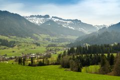 Entlebuch, first biosphere reserve. In Switzerland stock image