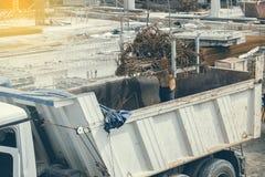 Entleerung von Bündeln des winkligen Rebar Stockbild