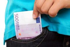 Entnehmen des Geldes Lizenzfreies Stockbild