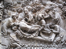 The Entombment of Christ Schreyer-Landauer Monumen. The Entombment of Christ from a section of a plaster copy of the Schreyer-Landauer Monument  of St. Sebaldus Royalty Free Stock Photos