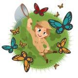 Entomologista feliz Foto de Stock Royalty Free
