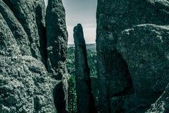 Entonigt berglandskap på Black Hills Soth Dakota, USA arkivbild