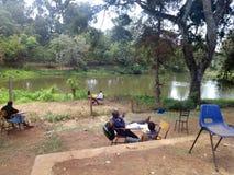 Entorno escolar de Kenia fotografía de archivo libre de regalías