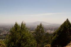 从Entoto山亚的斯亚贝巴的看法 免版税库存图片