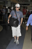 Entourage star Kevin Connolly is seen at LAX Royalty Free Stock Photos