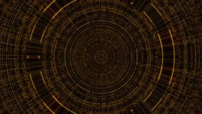Entourez avec la grille, la science abstraite d'affaires ou le fond d'informatique, 3d rendent le contexte, généré par ordinateur Photographie stock libre de droits
