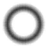 Entourez l'effet tramé de beignet, effet d'image tramée d'anime de manga de bande dessinée de beignet de cercle de vecteur Image stock
